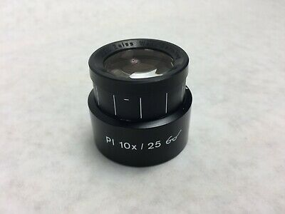 Zeiss Pl 10X / 25 Microscope Lens  44 40 34
