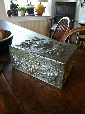 A Super Little Pewter Repousse Arts And Crafts Jewel Box Project