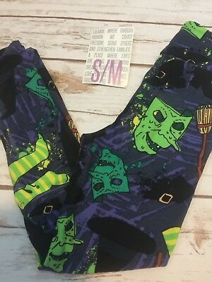 NWT LuLaRoe Kids S/M Halloween Leggings Witches Brooms & Hats
