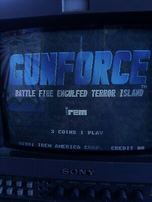 GunForce Arcade PCB tested and working