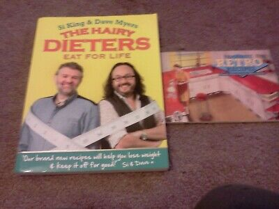 The Hairy Dieters Eat For Life and  Favourite Retro Recipes good condition