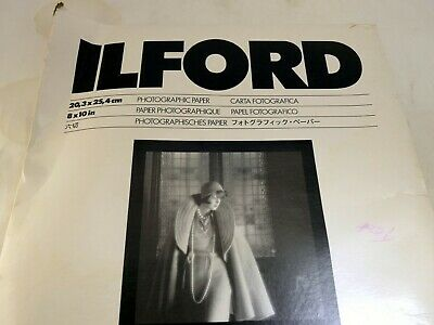 "ILFORD MGIV Multigrade IV 8X10"" Presentation grade Glossy Paper Photographic 25"
