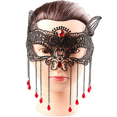 Ld_ Women Sexy Black Lace Eye Face Mask Masquerade Party Ball Prom Costume Fad