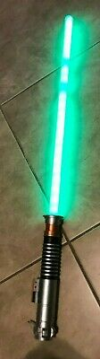 Star Wars Luke Skywalker Green Lightsaber Hasbro Lights & Sounds Works 2010 34""