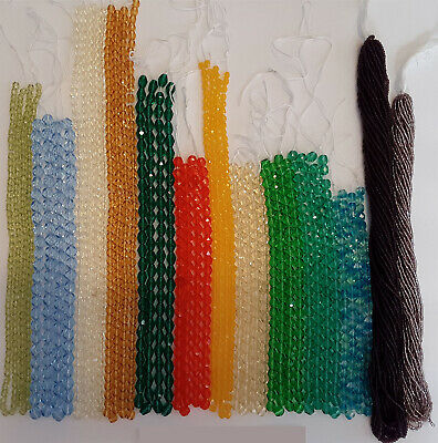 HUGE LOT OF CZECH GLASS BEADS. 8,100 BEADS!  4mm, 5mm,6mm,7mm and more Lot 001C