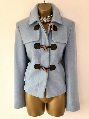 LAURA ASHLEY Vintage Wool Jacket size 12 10 Short Toggle Riding Autumn Coat