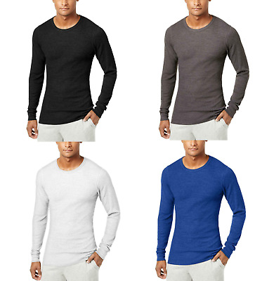 Alfani Men's Waffle-Knit Long-Sleeve Thermal Underwear Shirt, Assorted Colors