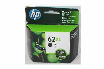 HP 62XL Black Ink Cartridge C2P05AN NEW GENUINE Exp 2021 Retail Box