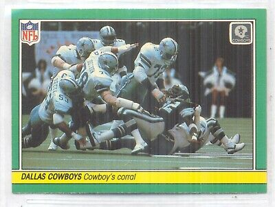 Ed Too Tall Jones, Dallas Cowboys Football, 1984 Fleer Team Action Card #14
