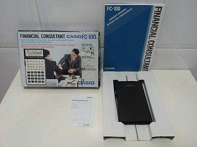 CASIO FC-100 FINANCIAL CONSULTANT. Complete. Vintage. 80´S. Very Good Conditions