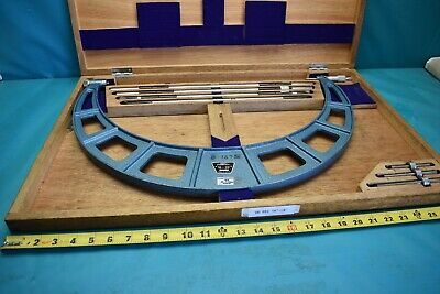 """USED Fowler 52-401-205 16-20"""" .001"""" Interchangeable Anvil Micrometer Set"""