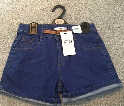 M&S Girls Shorts With Belt Age 10-11