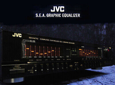 Graphic Equalizer JVC SEA-M770 Computer Controlled S.E.A. Sound Effect Amplifier