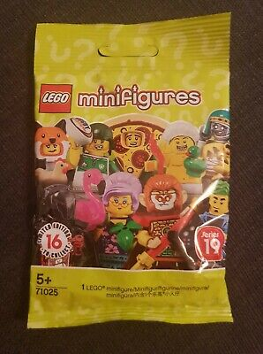New and factory sealed Dog Sitter, Pizza Guy - Lego 71025 series 19 minifigures