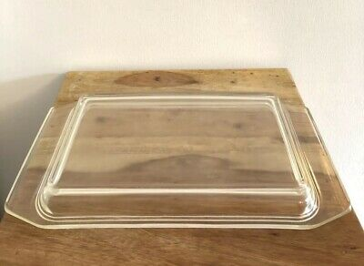 Vintage Pyrex Space Saver 550C Clear Lid Replacememt For 548 And 575 Casserole