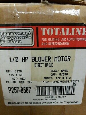 Totaline 1/2 Ho Blower Motor Direct Drive P257-8587