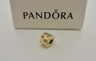 Authentic Pandora Spots Clip Charm in 14k Yellow Gold 750345 - RETIRED*