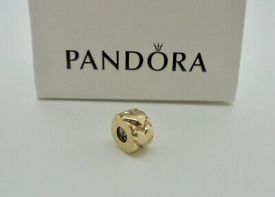 Authentic Pandora Simple Heart Clip Charm in 14k Yellow Gold 750243 RRP$399*
