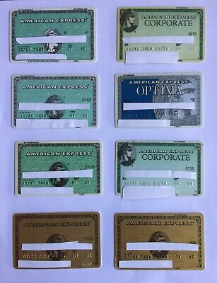 LOT OF 8 Collectible & Vintage American Express Credit Cards AMEX 80s 90s + NR!
