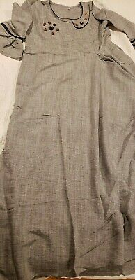 Pakistani / Indian Women's Gray cotton semi formal dress, size Large