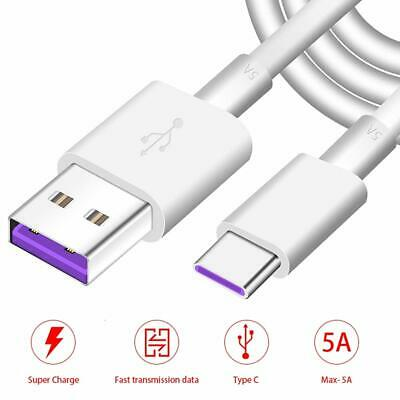5A USB-C Super Fast Charging Cable USB 3.1 Type C Quick Charger Sync Data Wire