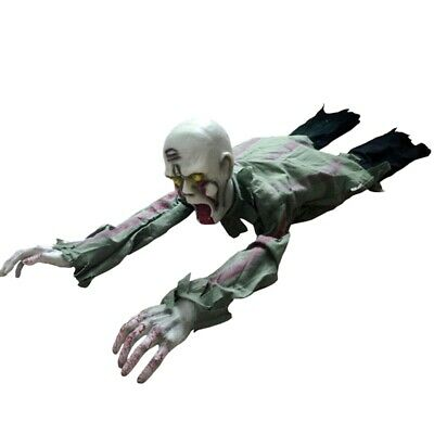 Halloween Crawling Zombie Prop Animated Horror Haunted House Party Floor O7N3