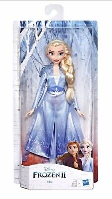 Disney FROZEN 2 Elsa Fashion Doll With Long Blonde Hair Blue Outfit Poseable NEW