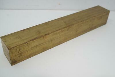 """Brass Bar 1-3/8"""" Square x 10"""" Long for Live Steam Machinists Knife Makers"""