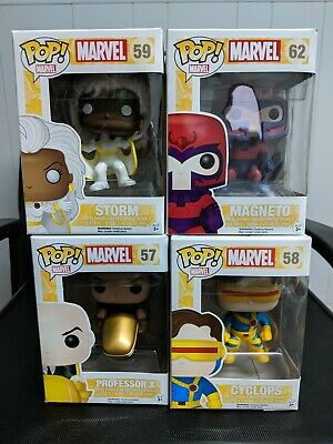 Funko Pop! Marvel X-Men Storm, Magneto, Professor X, Cyclops Lot of 4