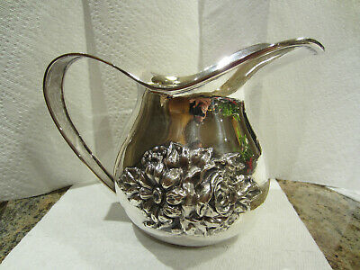 """South American Silver Water Pitcher (0.900 Purity) (7"""") (662 grams) No Mono"""