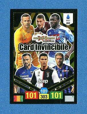 CALCIATORI 2019-20 -Adrenalyn Panini- Card n. 468 - RONALDO CARD INVINCIBILE