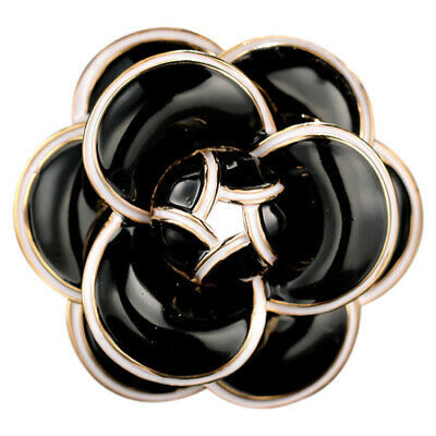 Enamel Camellia Flowers Channel Jewelry Brooches Broaches For Women E2Z4