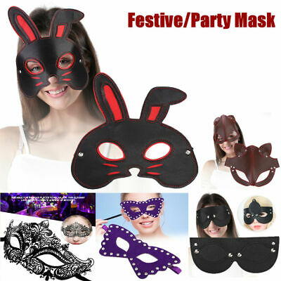 Black Masquerade Mask Diamond Lace Mask for Carnival Halloween Party Festive
