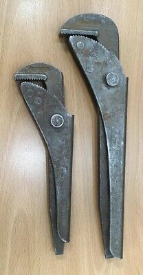 "Footprint Pipe Wrench's, 12"" & 9""."