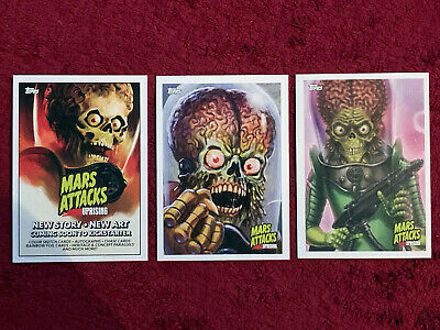 Topps Mars Attacks Uprising NYCC 2019 Exclusive Promo FULL CARDS SET Collectible