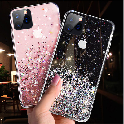 Bling Glitter Case For iPhone 11/11 Pro Max Clear Gel Soft TPU Phone Case Cover