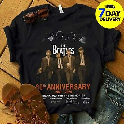 The Beatles 60th Anniversary Signature Shirt Thank for Memories Beatles Fan
