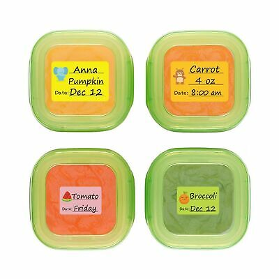 Baby Food Labels, Removable Write-On Date Labels for Food Storage Containers ...