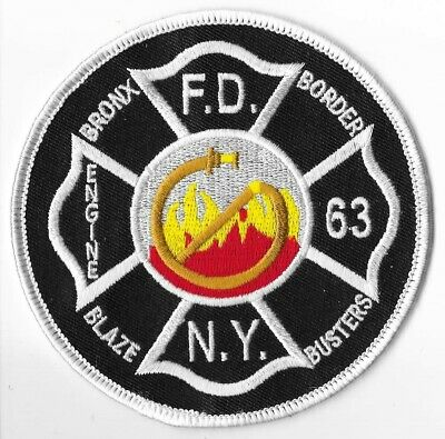 New York City Fire Department (FDNY) Engine 63 Patch V3