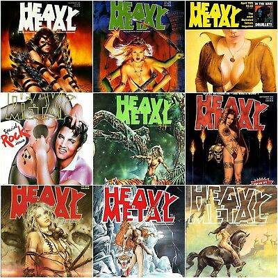 313 issues HEAVY METAL Magazine on 3 DVDs (pdf, collection, comics, erotica)