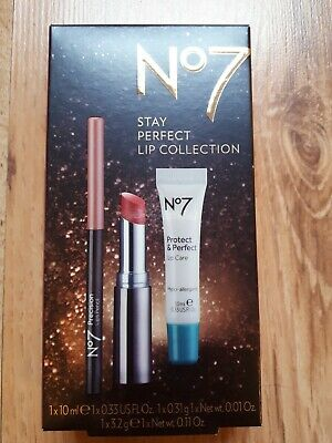 No7 Stay Perfect Lip Collection Gift Set Brand New