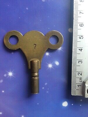 Size 5 Antique Vintage Clock Winding Key Mantle Grandfather Retro Steampunk