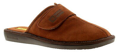 Nordikas Noble 663 Mens Brown Indoor Outdoor Sole Slippers House Shoes Size 7-12