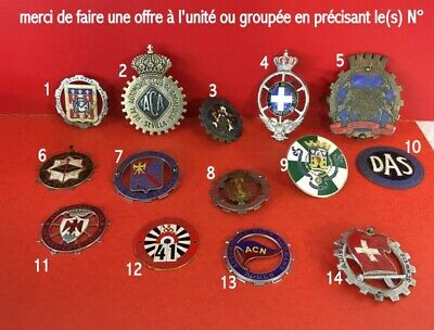 "12 Ancienne plaque de calandre Rally Automobile club ""HY05"""