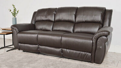 Cool Clearance Lombard Brown Leather Recliner 3 Seater Sofa Bralicious Painted Fabric Chair Ideas Braliciousco