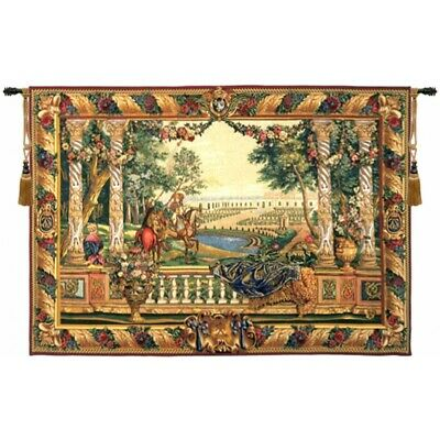 King Louis XIV at Versailles Chateau Palace French Woven Tapestry Wall Hanging