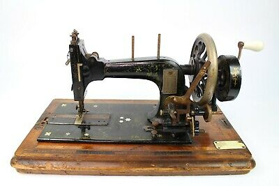 Antique Victorian Singer Sewing Machine S. Loewe 49 Fore Street 1894