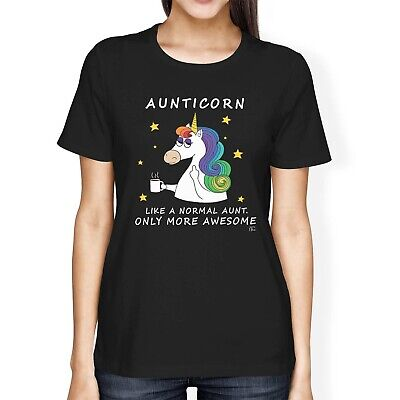 1Tee Womens Loose Fit Aunticorn, Like A Normal Aunt Only Awesome Unicorn T-Shirt