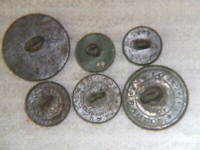 Dug Recovered Early Civil War Era Flat Buttons Collection