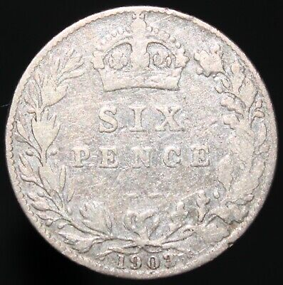 1903 | Edward VII Sixpence | Silver | Coins | KM Coins